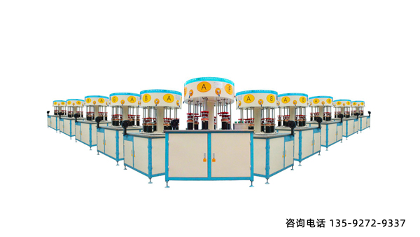旋转式六工位钎焊机-配置2台40kW的高频电源
