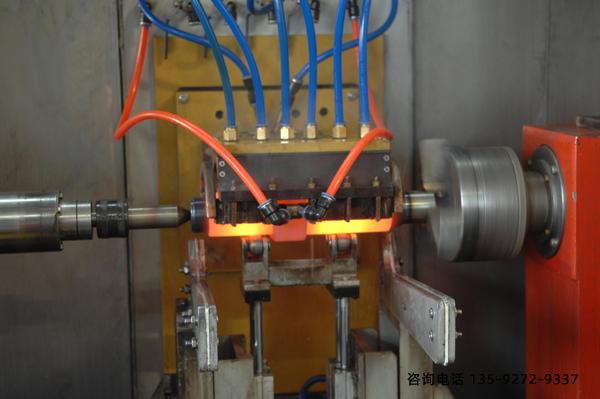 短轴卧式淬火机床-颗粒状渗碳影响工艺