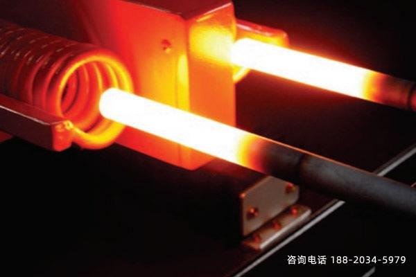 铁杆热处理采用感应加中频炉的热淬火表面强化