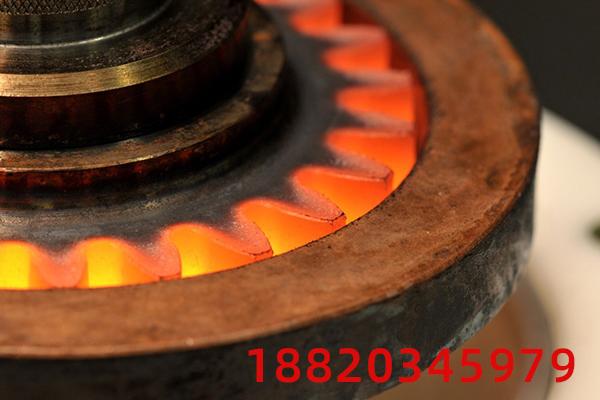 高频淬火设备80内齿圈感应淬火工艺试验
