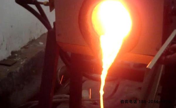 小型导电材料的坩埚感应中频熔炼炉