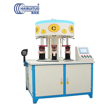 点击查看六工位自动钎焊机-小家电餐饮煲锅焊接-发热盘高频钎焊机大图片