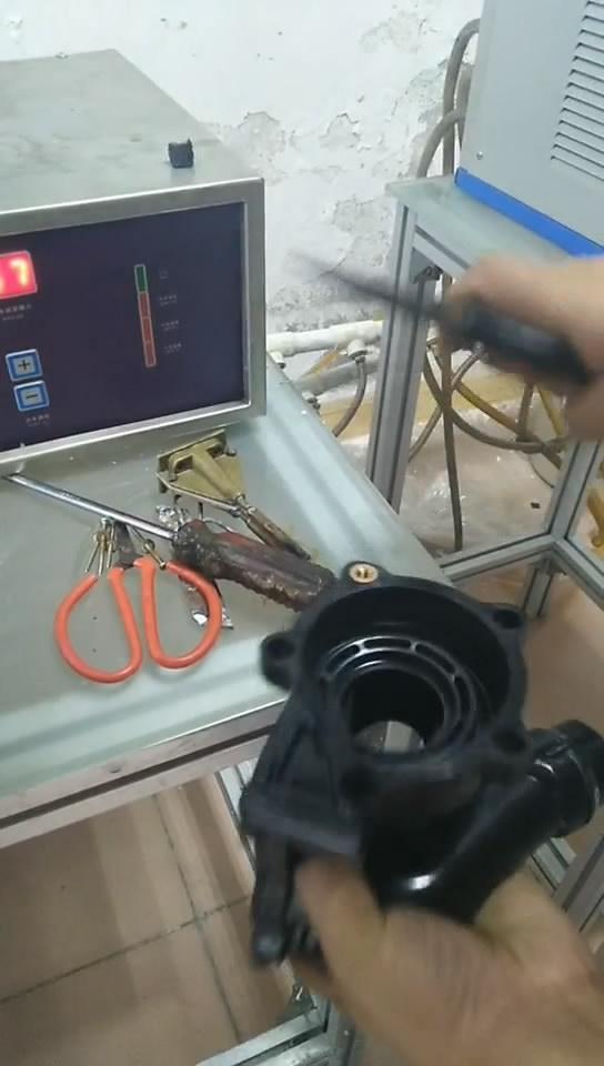 220V超高频加热机加热螺母端子热套热配合演示视频