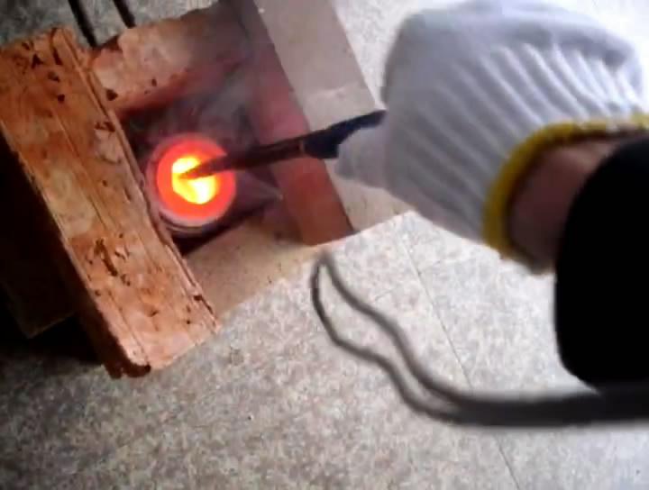 高频熔炼炉,锡熔炼试验