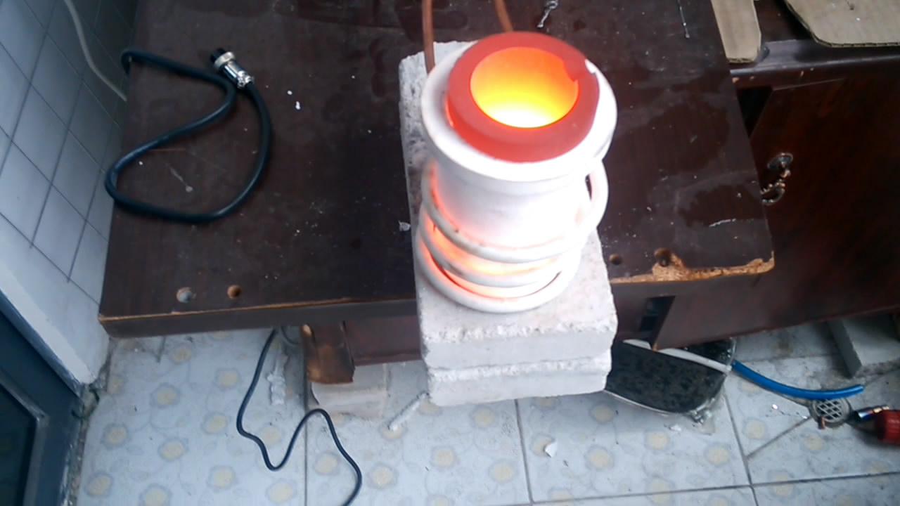 高频熔炼炉熔炼玉石试样视频