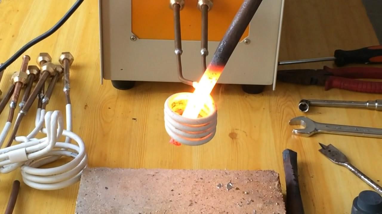 高频感应加热设备加热工件产品演示视频