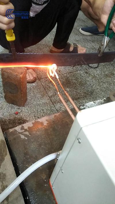 高频加热机对钢片加热退火试样