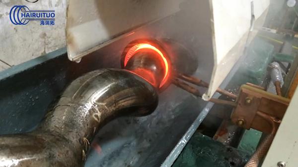 高频感应加热设备80kw对76mm曲轴自动化淬火