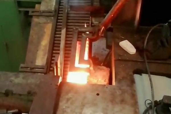 自动输送上料中频锻造炉