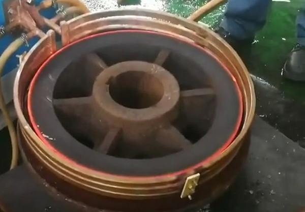 超音频感应加热设备对火车轮加热试样