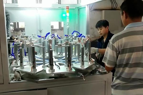 多工位高频钎焊机,自动化铜管焊接设备