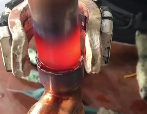 手持式高频焊机焊接铜管演示