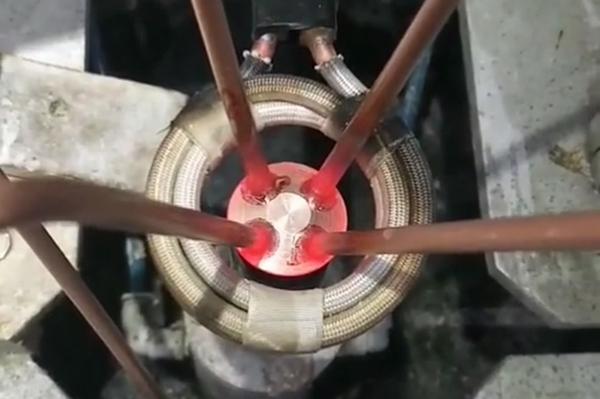 超高频钎焊机焊接铜管