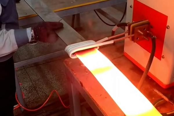 超高频感应加热设备对钢板钢片退火试样演示