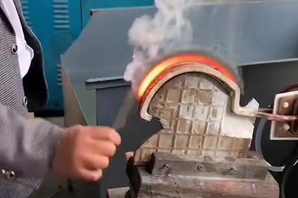 超高频淬火设备镰刀淬火