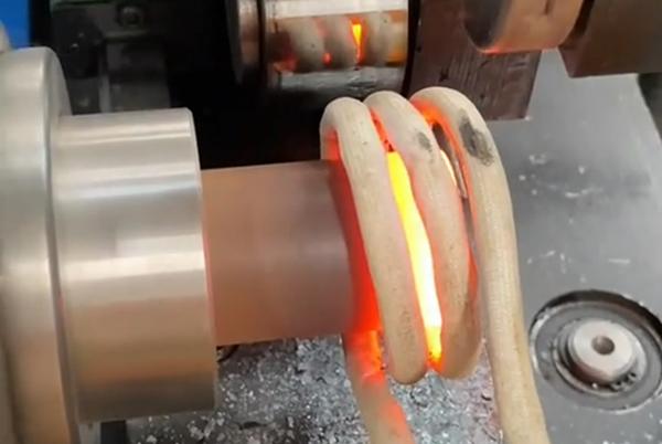 高频加热机加热钢管末端退火后封口